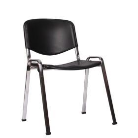 Sedute In Plastica Per Sedie.Sedia Da Conferenza Con Seduta In Plastica E Fusto Cromato Iso P