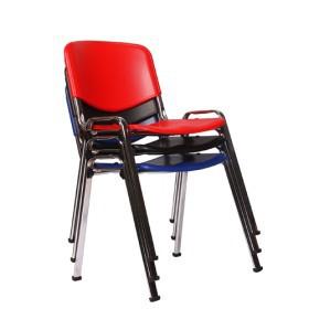 Sedute In Plastica Per Sedie.Sedia Da Conferenza Con Seduta In Plastica Iso P Fusto Cromato
