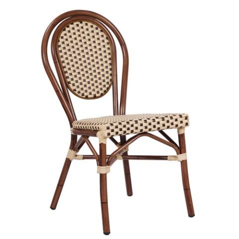 Sedia da esterno bambu beige for Sedia a dondolo bambu