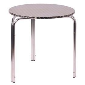Tavoli In Plastica Impilabili.Tavolo Da Bar Impilabile In Alluminio Irena D70
