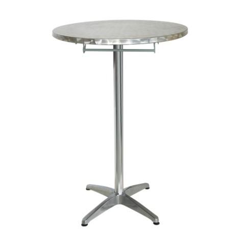Tavolo alto pieghevole da bar mirano in alluminio ed inox - Tavolo alto bar ...