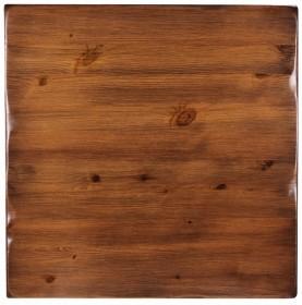 Piano tavolo in legno massello vintage - spessore 40 mm