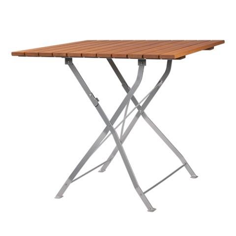 Tavolo pieghevole da esterno con piano listellare MERAN 88