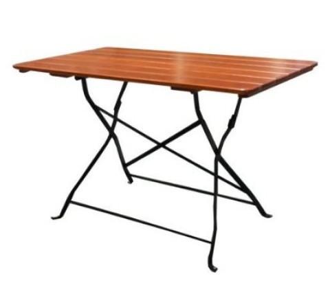 Tavolo pieghevole da esterno con legno listellare brixen 128 - Tavolo pieghevole da esterno ...