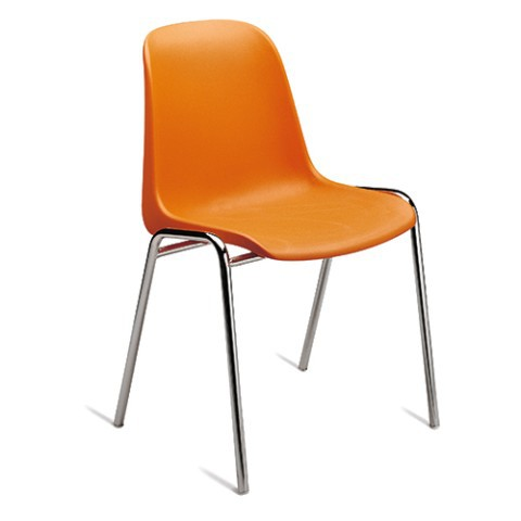 Sedie Di Plastica Impilabili.Sedia Impilabile Da Conferenza In Plastica Arancio Elena