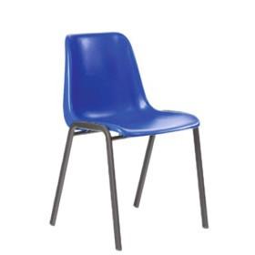 Sedia In Paolo Blu Grigio Monoscocca Plastica Fusto dBeCxo
