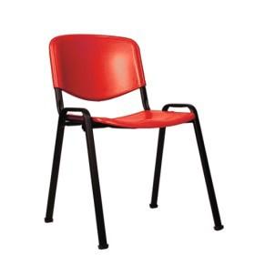 Sedute In Plastica Per Sedie.Sedia Da Conferenza Con Seduta In Plastica Iso P Fusto Nero