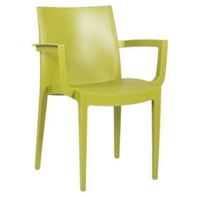 Sedie Per Esterno In Plastica.Sedia In Plastica Da Esterno Con Braccioli Ika Verde