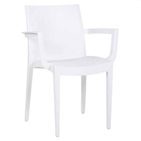 Sedie Per Esterno Plastica.Sedia In Plastica Da Esterno Con Braccioli Ika Bianca